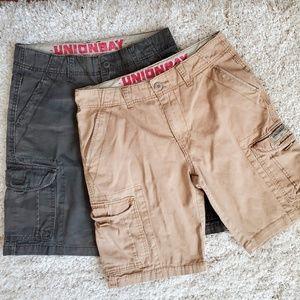 2 Pair Unionbay Cargo Shorts